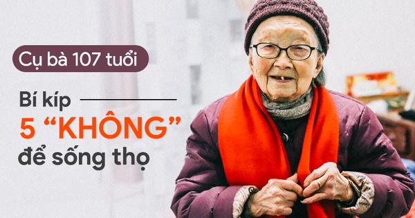 Cụ bà 107 tuổi và bí quyết 5 'KHÔNG' để sống khỏe mạnh: Ai áp dụng được ắt sẽ sống lâu!