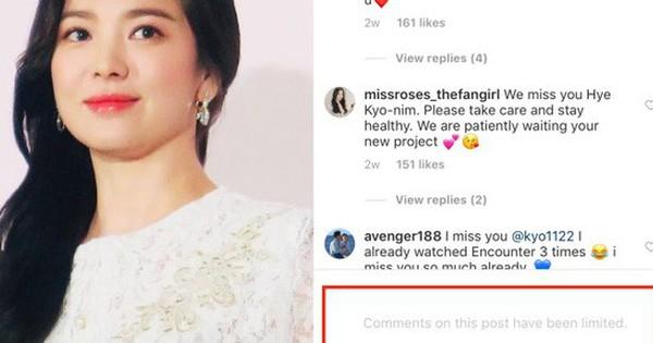 Song Hye Kyo bất ngờ khóa bình luận trên Instagram, chuyện gì đang xảy ra?