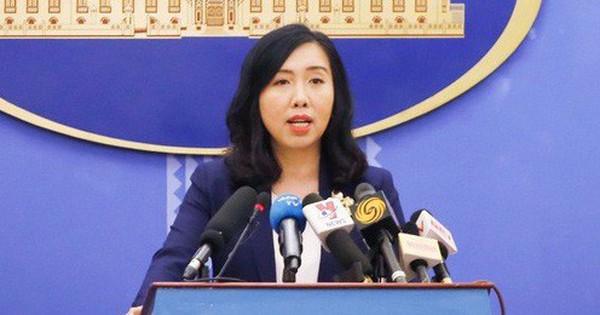 Người phát ngôn lên tiếng về đội tàu đánh bắt nghêu của Trung Quốc hoạt động tại Biển Đông