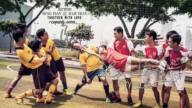"""Bộ ảnh cưới """"nhìn là yêu"""" của fan Arsenal Việt"""