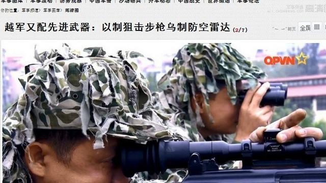Lính bắn tỉa Việt Nam xuất hiện trên báo Trung Quốc