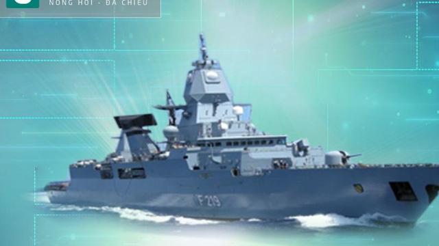 Khu trục hạm phòng không cực kỳ đáng gờm của Hải quân Đức
