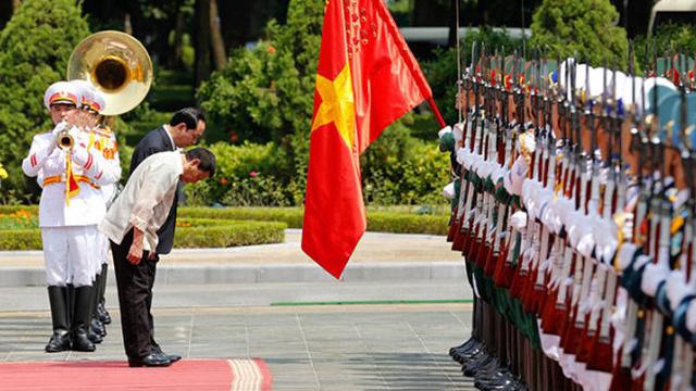Tổng thống Philippines bắt đầu thăm chính thức Việt Nam