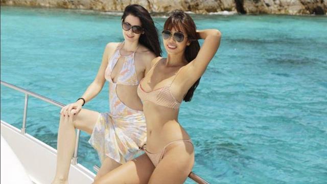Hà Anh khoe thân hình nóng bỏng trên du thuyền triệu đô