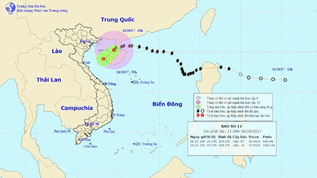 Bão số 11 suy yếu thành áp thấp nhiệt đới, gây mưa lớn cho miền Bắc