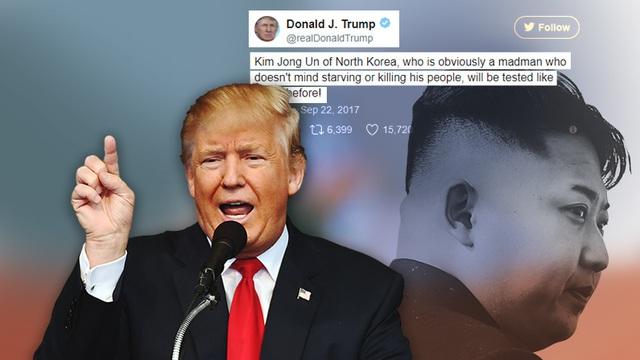 """Tổng thống Trump phản pháo Triều Tiên, gọi ông Kim Jong Un là """"gã điên"""""""
