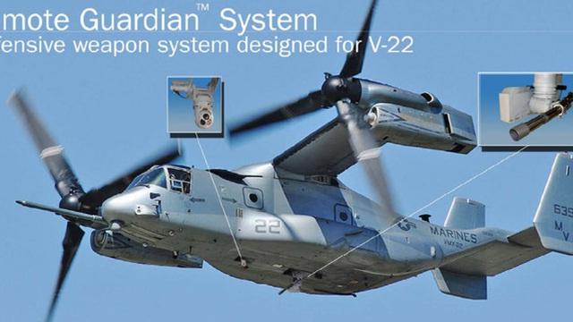 """""""Ưng biển"""" MV-22 Osprey của Mỹ thử vũ khí phòng thủ khủng"""