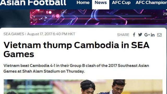 Báo thế giới mê mẩn U22 Việt Nam và Công Phượng, thờ ơ Thái Lan