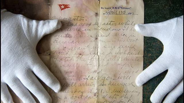 Lá thư cuối cùng từ tàu Titanic: Vẫn đến tay người nhận dù chưa bao giờ được gửi đi