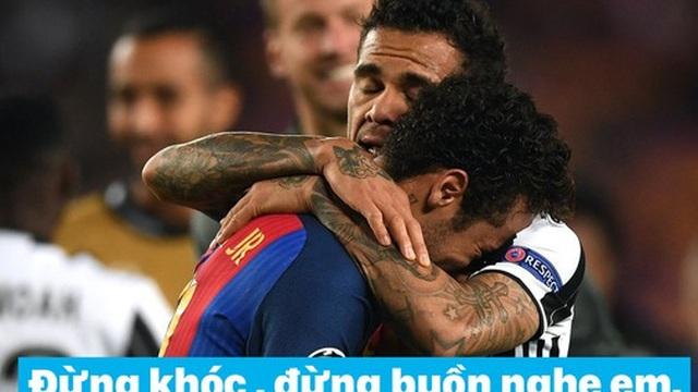 """Ảnh chế: Neymar được đàn anh an ủi bằng ca khúc """"Vầng trăng cô đơn"""""""