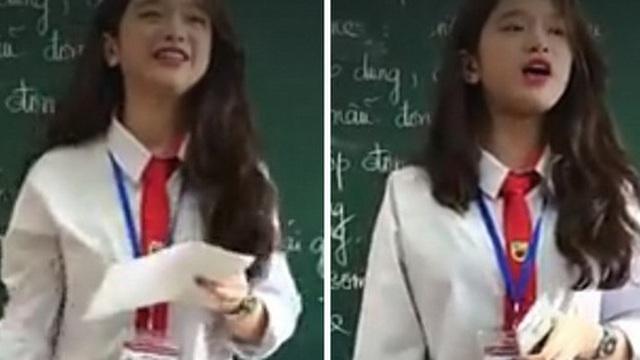 """Linh Ka hát """"Em gái mưa"""", lần đầu khoe giọng thật trước lớp"""