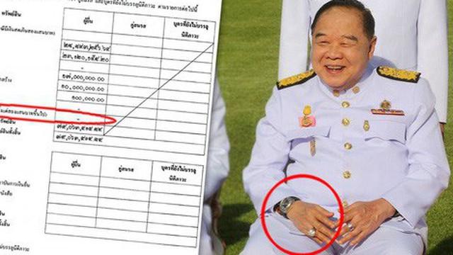 """Lấy tay che nắng, phó thủ tướng Thái Lan """"lộ"""" đồng hồ sang"""