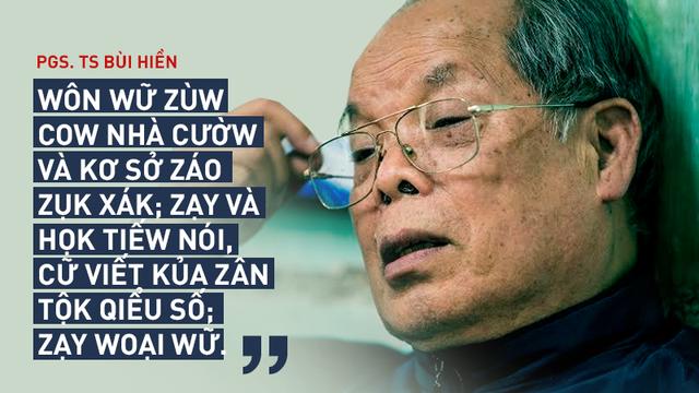 """PGS Bùi Hiền công bố phần 2 đề xuất cải tiến tiếng Việt thành """"tiếq Việt"""""""