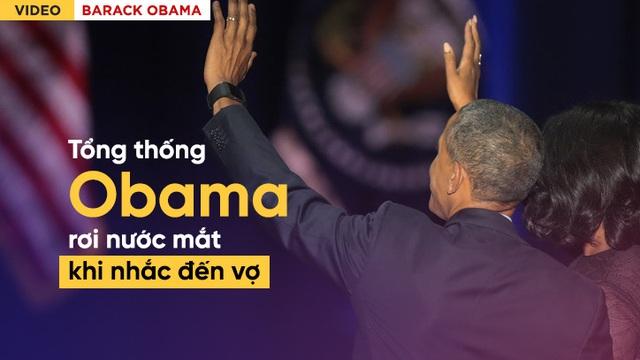 [Video Vietsub] Tổng thống Obama rơi nước mắt khi nói về vợ