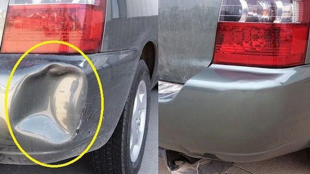 Cách xử lý vết móp thân ô tô không cần mang tới gara