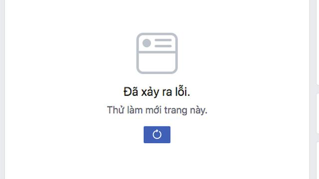 Facebook bỗng nhiên bị lỗi không thể tải được tin mới trên trang chủ