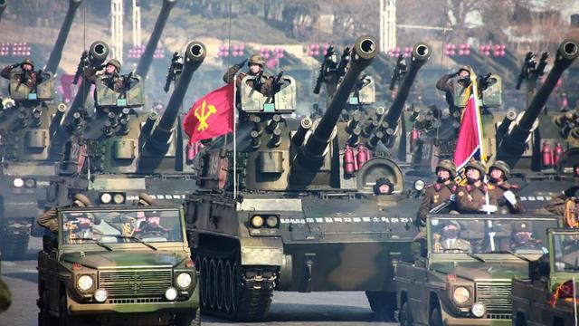 Pháo tự hành bánh xích tích hợp tên lửa vác vai và súng phóng lựu tự động của Triều Tiên