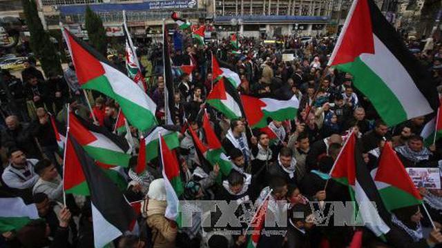 Người dân Palestine xuống đường phản đối kế hoạch di chuyển Đại sứ quán Mỹ tới Jerusalem vào tháng 5/2018