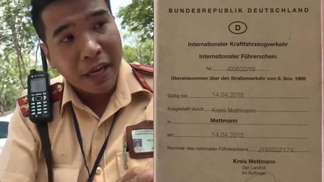 PC67 thông tin vụ CSGT Cát Lái từ chối bằng lái quốc tế