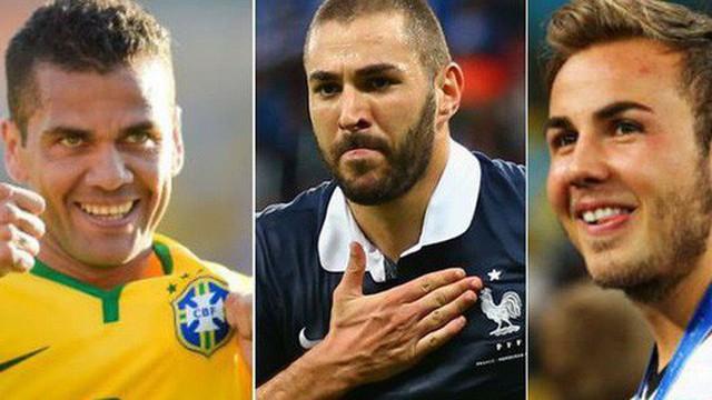 Đội hình ngôi sao khiến fan tiếc nuối vì vắng mặt ở World Cup 2018