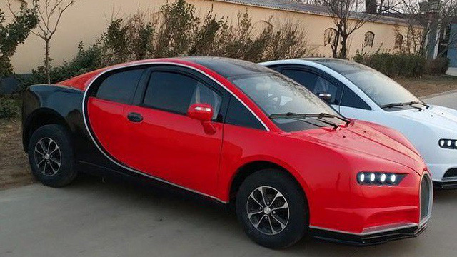 'Phát sốt' ô tô 'made in China' 'nhái' giống y hệt siêu xe Bugatti, giá chỉ 112 triệu đồng