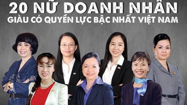 Việt Nam đứng thứ 6 trong các quốc gia có tỉ lệ nữ doanh nhân cao