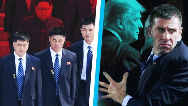 """Đọ dàn vệ sĩ """"người thép chạy bộ"""" của ông Kim với đội đặc vụ lấy thân đỡ đạn của ông Trump"""