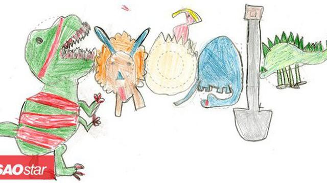 Tác phẩm siêu dễ thương của cô bé lớp một đạt giải thưởng Google Doodle năm nay