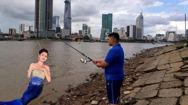 Đi câu cá, chàng trai bất ngờ kéo được cả Hoa hậu Đại dương từ dưới sông lên
