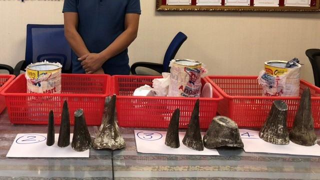 Nam thanh niên vận chuyển 12 sừng tê giác trị giá gần 8 tỷ đồng qua sân bay Tân Sơn Nhất