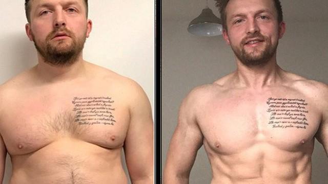 """Người đàn ông giảm 34 kg, lột xác thành """"hot dad"""" 6 múi vì con trai"""