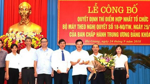 Hà Giang công bố quyết định hợp nhất tổ chức bộ máy cấp tỉnh
