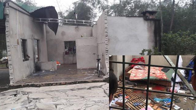 Hiện trường ngôi nhà tan hoang sau vụ nổ lớn ở Nghệ An