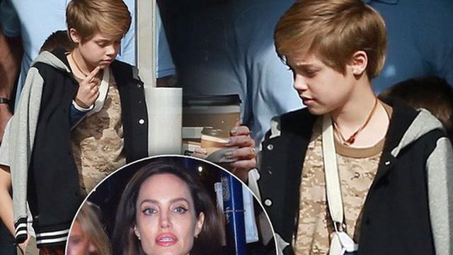 Con gái Angelina Jolie và Brad Pitt phải băng bó vì bị gãy xương đòn