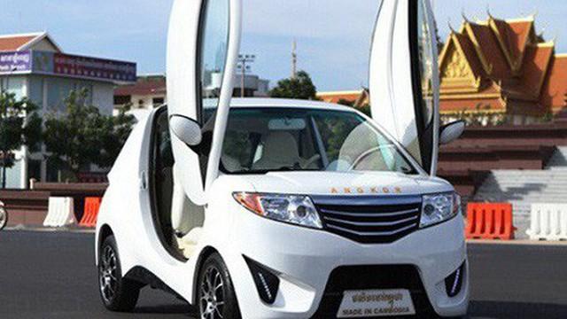 Chiếc ô tô điện đầu tiên do Campuchia sản xuất giá  200 triệu đồng giờ ra sao?