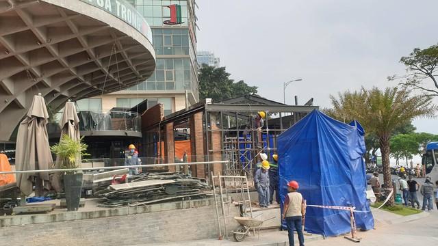 Đà Nẵng cưỡng chế nhà hàng xây dựng trái phép từng bị xử phạt 110 triệu