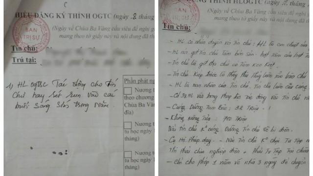 Sự thật việc giấy thỉnh oan gia trái chủ chùa Ba Vàng đóng dấu treo của BTS PG Quảng Ninh