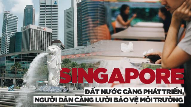 Nổi tiếng sạch nhất thế giới nhưng người dân Singapore ngày càng 'lười và ở bẩn', ăn xong đến khay cũng không thèm dọn