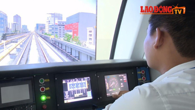 Cận cảnh học nghề của lái tàu đường sắt Cát Linh - Hà Đông