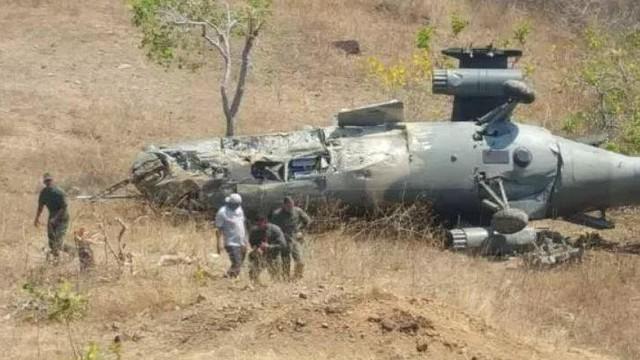 Trực thăng quân sự chở 7 người rơi ở Venezuela, chưa rõ con số thương vong