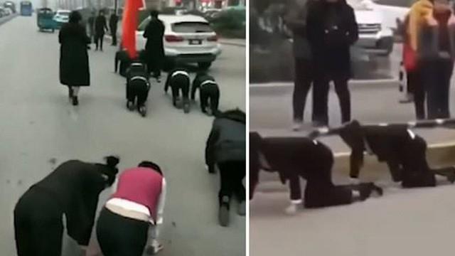 Cận Tết, công ty phạt nhân viên bò trên đường vì không đạt chỉ tiêu