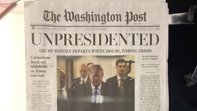 """Tin giả """"Tổng thống Trump từ chức"""" náo loạn Washington"""