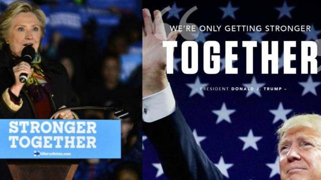 """Tổng thống Trump """"nhái"""" khẩu hiệu tranh cử của bà Hillary Clinton"""