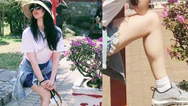 """Khoe ảnh du lịch cùng gia đình, Lưu Diệc Phi bị soi đôi chân """"nổi cơ bắp"""""""