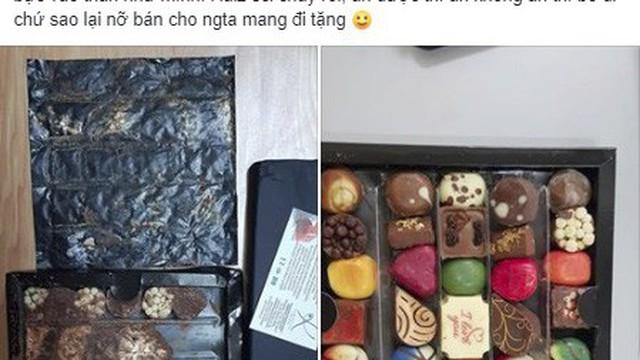 """Được tặng socola xịn mà mở hộp ra nhão nhoẹt như bùn, cô gái trẻ xém xỉu khi chủ shop tuyên bố """"bạn gửi lại mình ăn cho"""""""