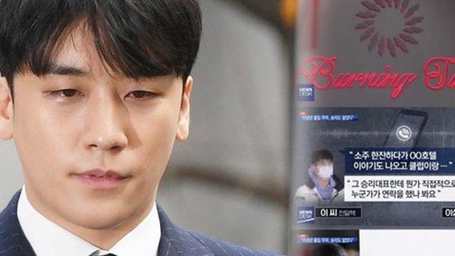 """Khẳng định vô tội, Seungri tiếp tục bị 2 đài lớn """"đập"""" lại bằng chứng kinh doanh phi pháp trong loạt club người lớn"""