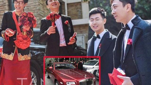 """Đám cưới hot nhất hôm nay: Thiếu gia giàu nhất Trung Quốc làm phù rể, tặng """"nóng"""" cô dâu chú rể 1 chiếc Roll Royce"""