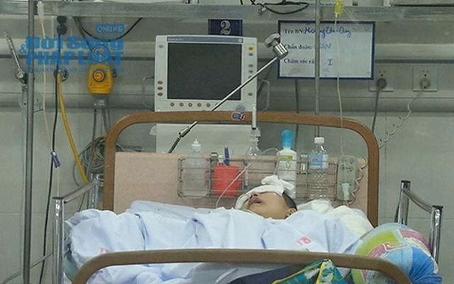 Nữ sinh bị tai nạn ở Xã Đàn chuyển sang khoa Phẫu thuật thần kinh