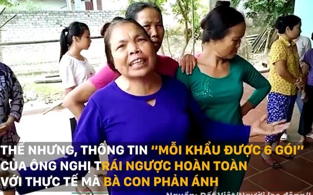 """Vụ vợ """"quan"""" thôn nhận quà lũ lụt: Bất ngờ cán bộ nói phản ánh của dân không chính xác"""