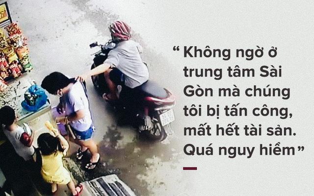 [PHOTO STORY] Dân thường, người bị nạn, du khách thảng thốt về nạn cướp giật ở Sài Gòn